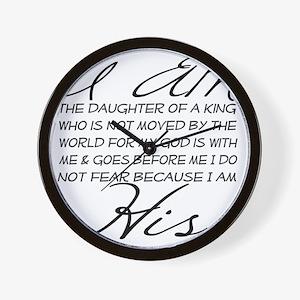 I am His script letters Wall Clock