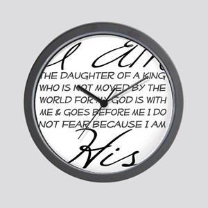 I am His script letters Wall Clock