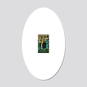 Venice clipboards 20x12 Oval Wall Decal