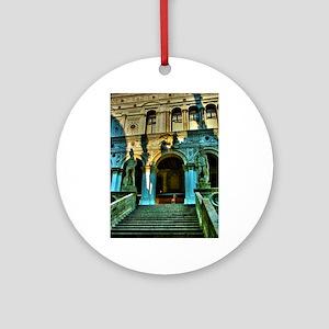 Venice clipboards Round Ornament