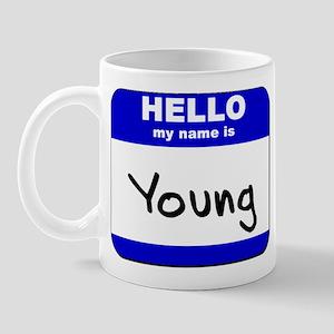 hello my name is young  Mug