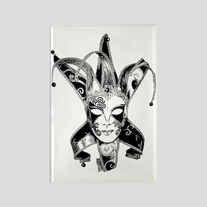 Venetian Masquerade Carnaval Mask Rectangle Magnet