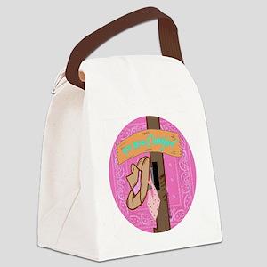 yee haw cowgirl Canvas Lunch Bag