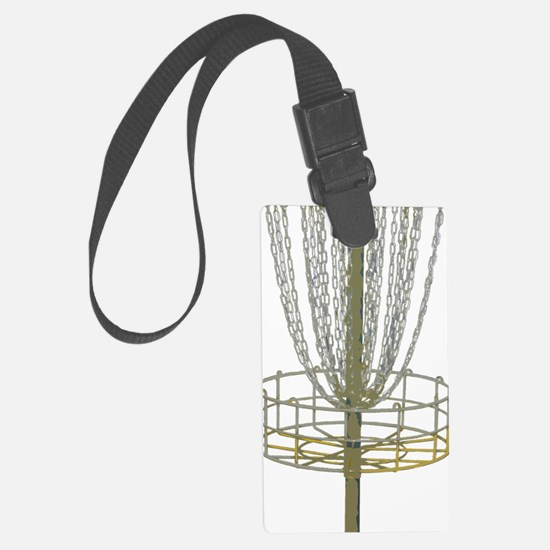 Disc Golf Basket Frisbee Frolf Luggage Tag