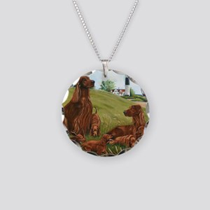 Family Fun Necklace Circle Charm