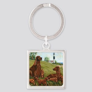 Family Fun Square Keychain