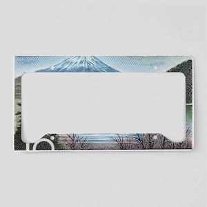 Vintage 1959 Japan Mount Fuji License Plate Holder