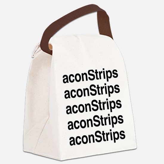 Bacon Strips Canvas Lunch Bag