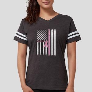 Ribbon Flag Fight Womens Football Shirt T-Shirt