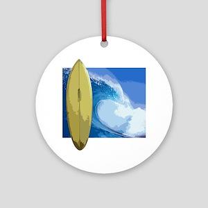Surfing Surfboard Surf Board Beach  Round Ornament