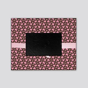 Pink Hearts Picture Frame