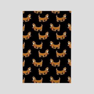 Cute Dachshund Cartoon Puppy Rectangle Magnet