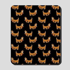 Cute Dachshund Cartoon Puppy Mousepad