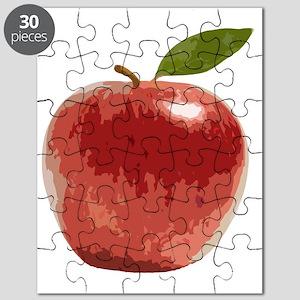 Apple Fruit Washington Fuji Red Food Puzzle