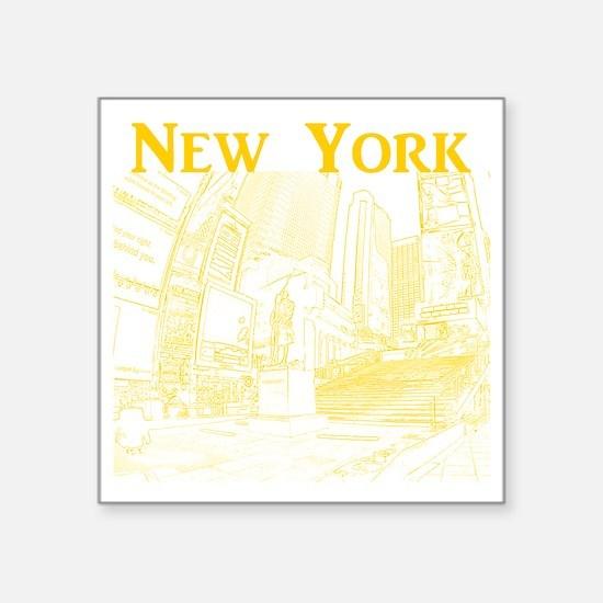 "NewYork_10x10_DuffySquare_Y Square Sticker 3"" x 3"""