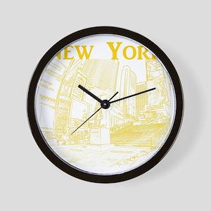 NewYork_10x10_DuffySquare_Yellow Wall Clock