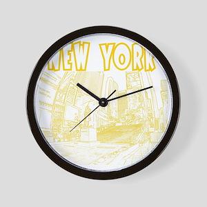 NewYork_12x12_DuffySquare_Yellow Wall Clock