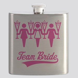 Team Bride (Bachelorette Party), magenta Flask