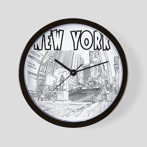 NewYork_12x12_DuffySquare_Black Wall Clock
