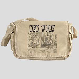 NewYork_12x12_DuffySquare_Black Messenger Bag