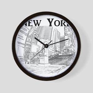 NewYork_10x10_DuffySquare_Black Wall Clock