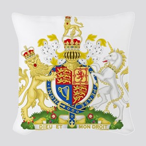 Royal COA of UK Woven Throw Pillow