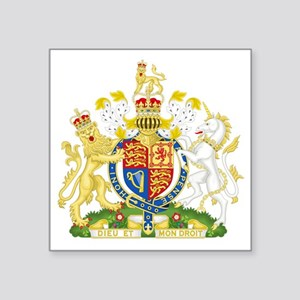"Royal COA of UK Square Sticker 3"" x 3"""