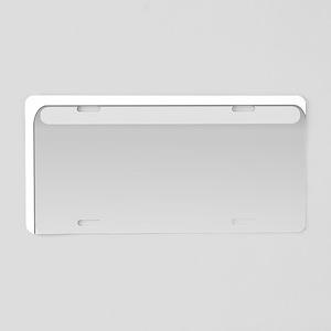 Text Whale WHALE! Aluminum License Plate