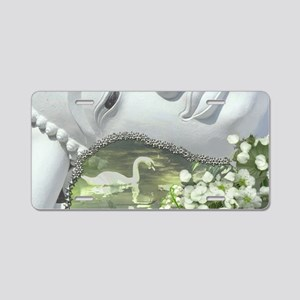 In the Garden - Quan Yin Fl Aluminum License Plate
