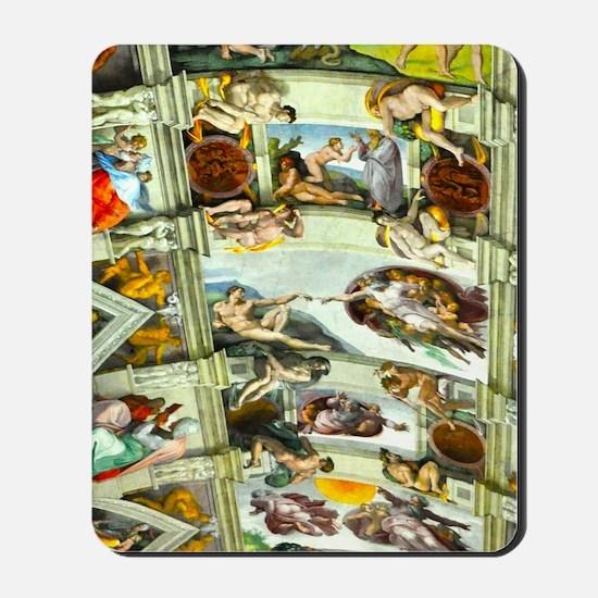 Sistine Chapel Ceiling 4X6 Mousepad