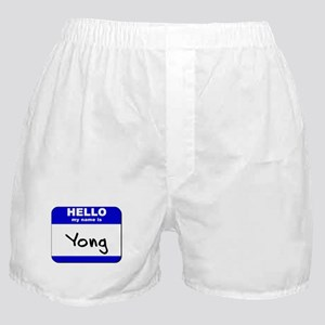 hello my name is yong  Boxer Shorts