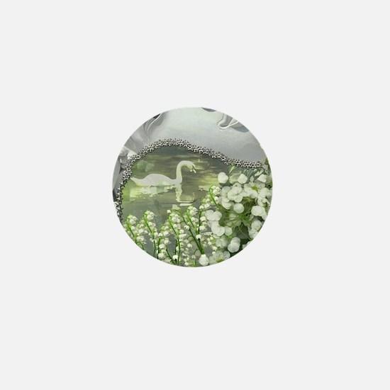 In the Garden - Quan Yin Flowers Mini Button