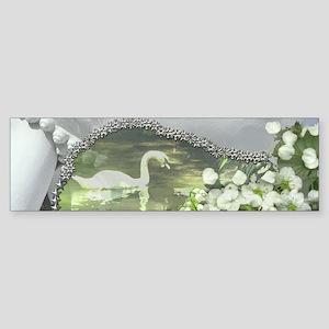 In the Garden - Quan Yin Flowers Sticker (Bumper)