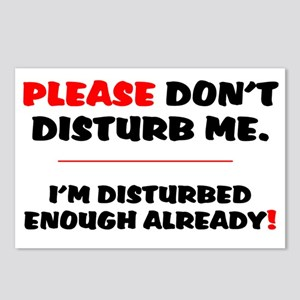 PLEASE DONT DISTURB ME -  Postcards (Package of 8)