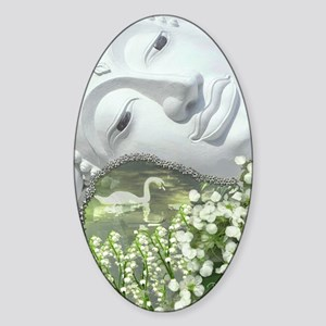 In the Garden - Quan Yin Flowers Sticker (Oval)