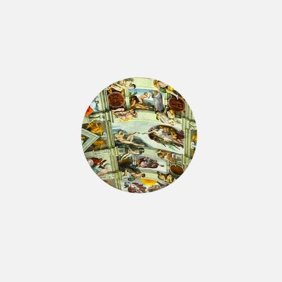 Sistine Chapel Ceiling square Mini Button