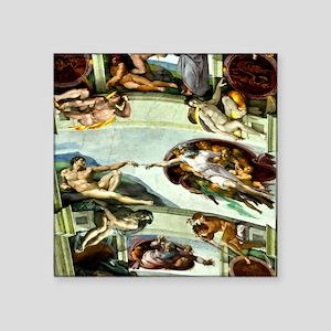 "Sistine Chapel 17X15 Square Sticker 3"" x 3"""