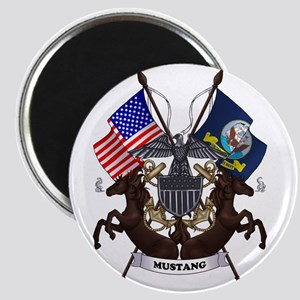 Navy Mustang Emblem Magnet