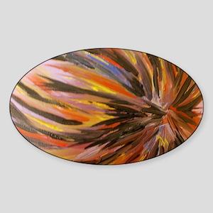 Feathered burst. Sticker (Oval)