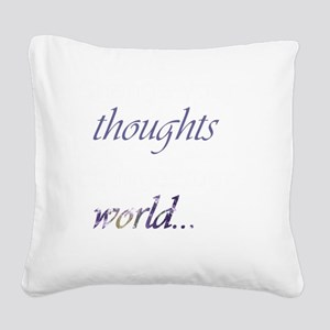 Change Your Thoughts (Dark) Square Canvas Pillow