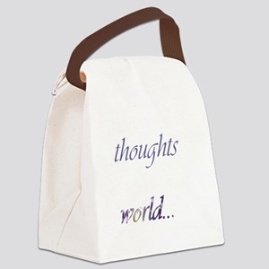 Change Your Thoughts (Dark) Canvas Lunch Bag
