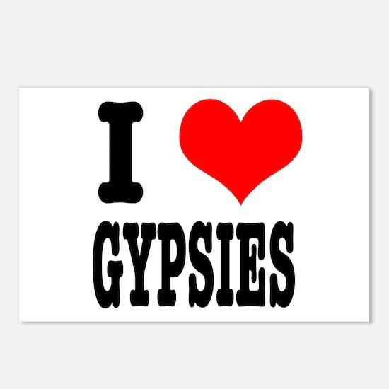 I Heart (Love) Gypsies Postcards (Package of 8)