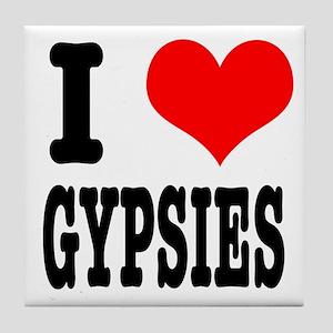 I Heart (Love) Gypsies Tile Coaster