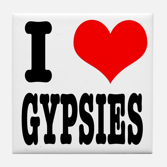 I Heart (Love) Gypsies Tile Coaster