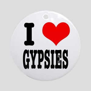 I Heart (Love) Gypsies Ornament (Round)