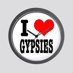 I Heart (Love) Gypsies Wall Clock