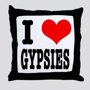 I Heart (Love) Gypsies Throw Pillow