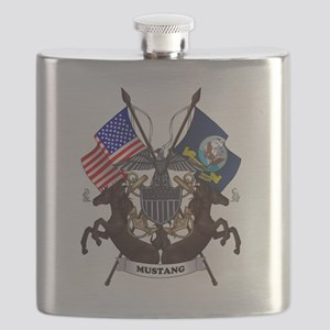Mustang with Tails Flask