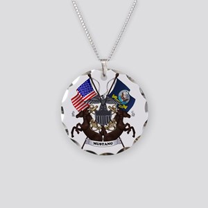 Mustang with Tails Necklace Circle Charm