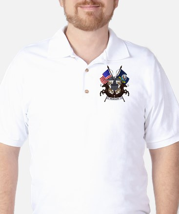 Mustang with Tails Golf Shirt